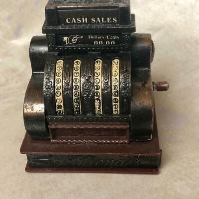 Vintage Pencil Sharpner Metal Die Cast Cash National Register Miniature Bronze