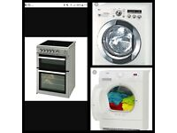 Washing machine, tumble dryer, cooker & oven repairs.