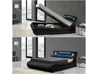 Rio LED Ottoman and Bluetooth Double and King Size Bed
