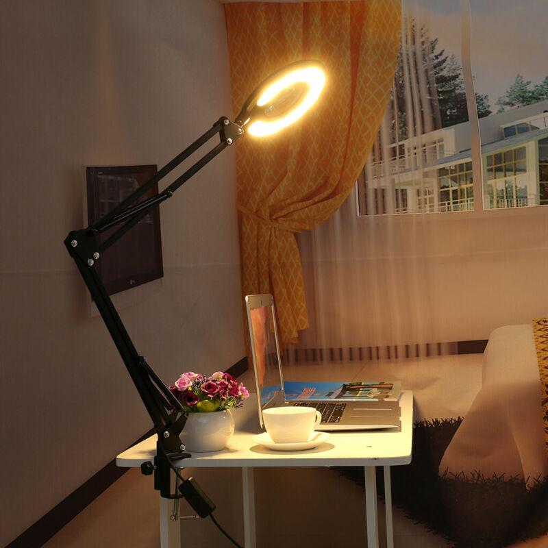 LED Large Lens Lighted Lamp Top Desk 5x Magnifier Magnifying
