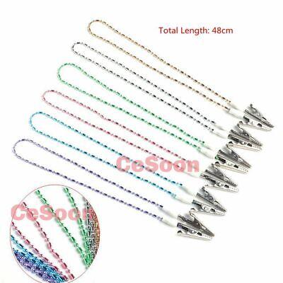 6pcs Dental Napkin Holder Bib Crocodile Clip Flexible Metal Ball Chain Bib Clips