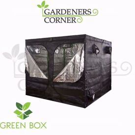 Hydroponics Green Box Indoor Grow Room Tent 400 x 200 x 200 Silver Mylar UK