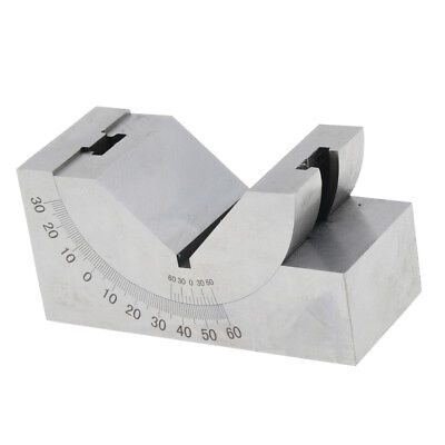 0-60 Degree Toolmaker Precision Gauge Micro Adjustable Angle V Block Milling