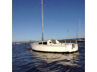 Sailing boat lifting keel Jaguar yacht