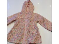 Girls Rain Coat - Next - Age 3-4 Years - Excellent Condition
