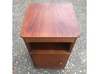 Retro Small Bedside Table Veneered Timber Vintage design
