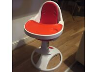 Baby highchair retro, 360 swivel, adjustable height l, 6 months old