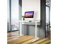 Electric Standing Desk Seville Classics Airlift Tempered Glass with Drawer