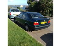 BMW 3 series. 1998 . MOT til Sept 2017. Very reliable and beautiful to drive. Leather seats