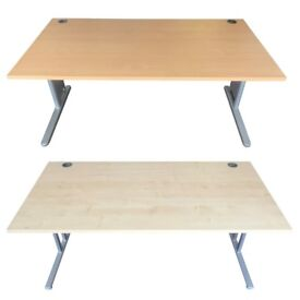 USED OFFICE DESKS. BEECH AND MAPLE. FREE FAST DELIVERY..
