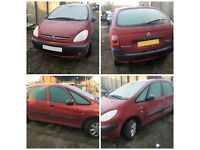 citroen Piccaso Diesel 2.0 HDI Sx 2001 Red Manual All Parts Available