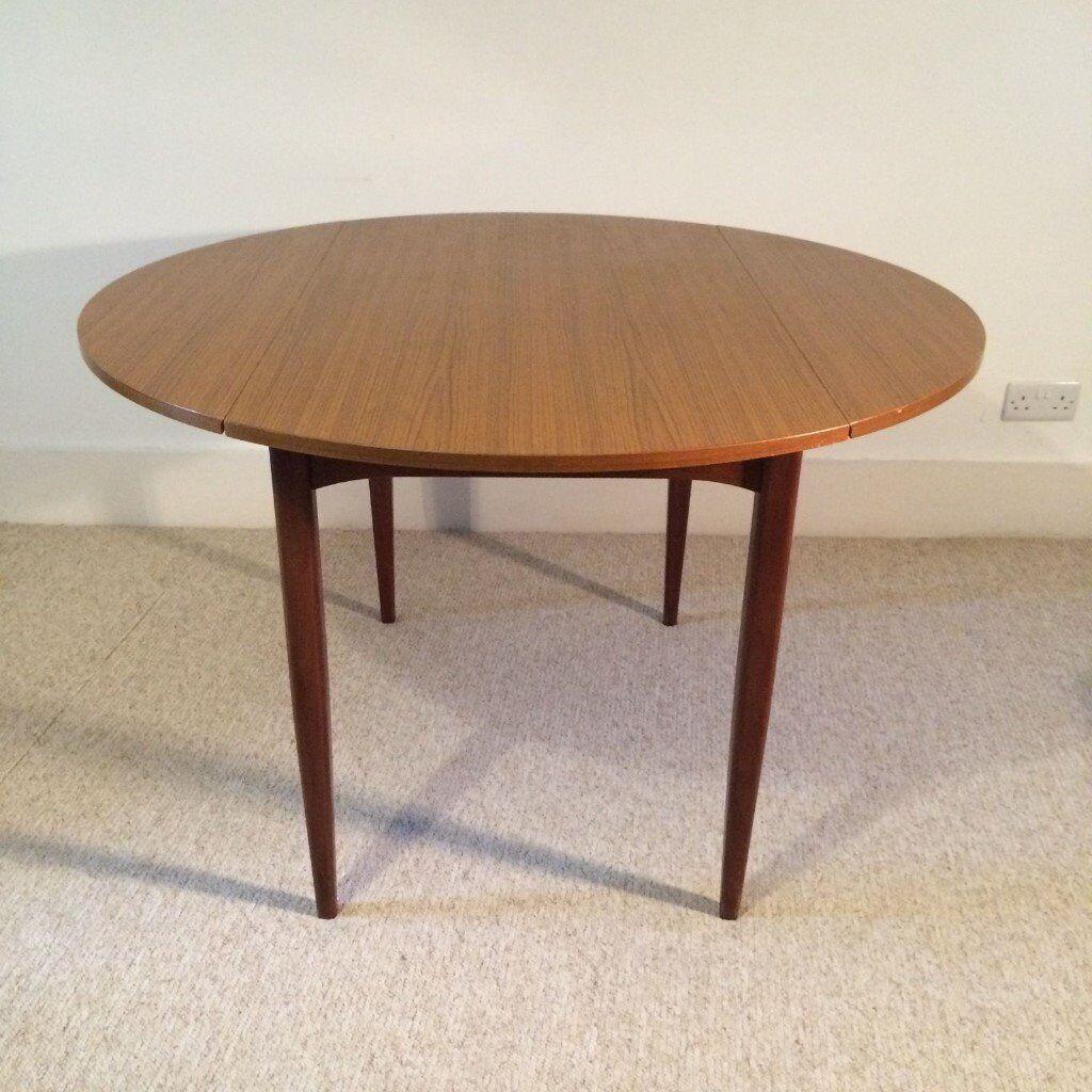 stylish round dining table danish mid century style teak rou