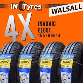 4x New 155/65R14 High Performance Budget Tyres Four Fitting Available x4 Walsall