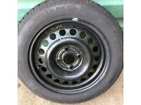 Vauxhall corsa b steel wheel with new continental tyre 165 65 r 15