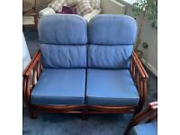 Conservatory furniture settee and 2 chairs