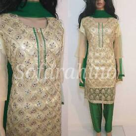 Pakistani Indian bollywood style Shalwar Kameez full stitched suits at reduced price big Sale