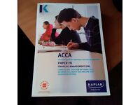 ACCA BOOKS F9 P1 P2 TEXT AND EXAM KIT JOB LOT