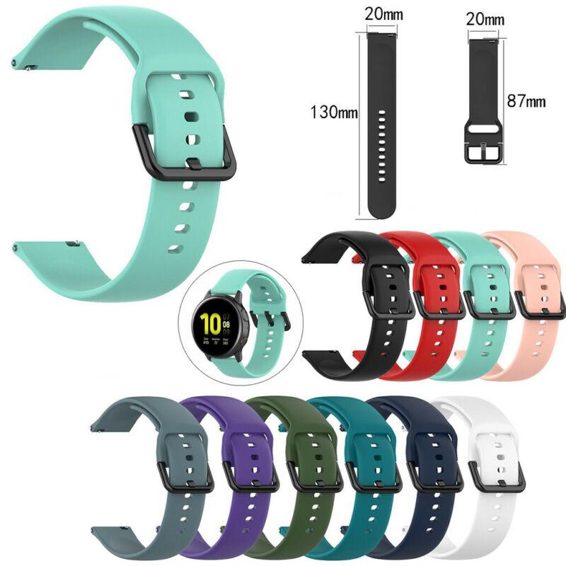 40/44mm Silicone Smart Watch Band Wrist Strap For Samsung Ga
