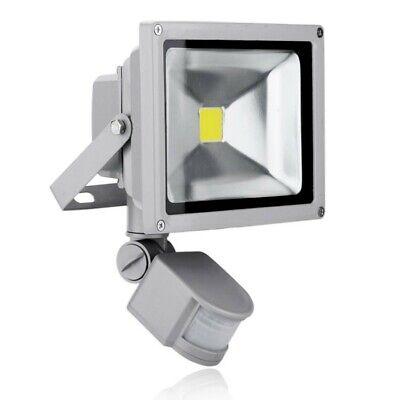 Faro Proyector LED 30W Luz Blanca Frío con Sensor de Movimiento Crepuscular...