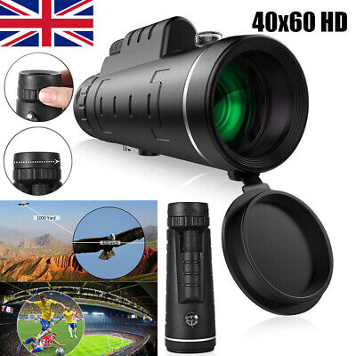 40X60 Portable Zoom Monocular Telescope HD Night Vision Outdoor Hunting Camping