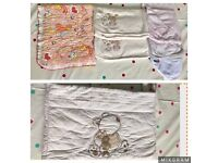 Baby blankets, towels and cot bed bumpers