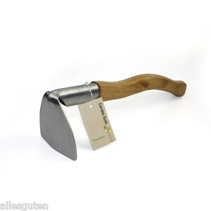 Finether Stainless Steel Digging Weeding Hoe Wooden Handle Garden Hand Tool New