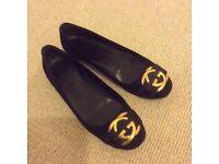 Black suede shoes, size 37.5, Gucci