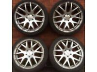 18 inch Boston style alloy wheels & tyres Audi Volkswagen Mercedes Benz Seat Skoda 112 alloy rims