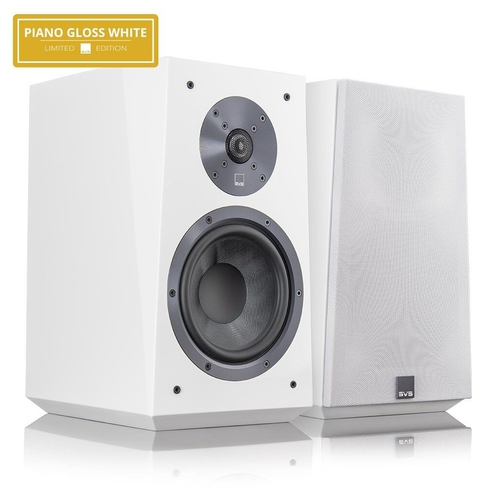 SVS ULTRA BOOKSHELF SPEAKERS PAIR PIANO WHITE BRAND NEW UNWANTED PRESENT !!! GRAB A BARGAIN