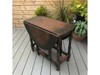 Vintage Oak Drop Leaf Gate Leg Table