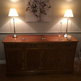 Yew Dining table and side board unit