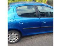 Blue 206 Peugeot for sale