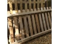 Picket fencing . 13 wooden picket fence panels . 300 cms x90cms