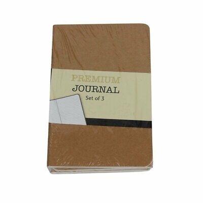 Personal Premium Journals Pack Of 3 Notepads 3.5in X 5.5in - Kraft Brown Sol...