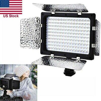 160LED Video Studio Photography Photo Light Panel DSLR Camera DV Fill Lamp 6000K