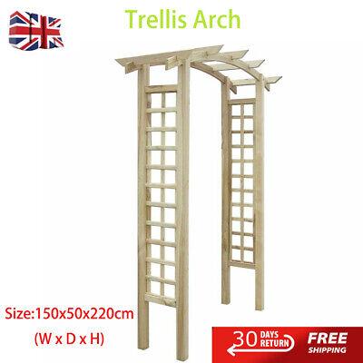 Trellis Arch Wood Garden Gazebo Pergola Climbing Plants Outdoor New150x50x220cm
