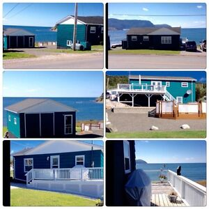 Ocean front property in Rocky Harbour, NL.   NEW: INSIDE PICS!!