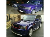 RANGE ROVER SPORT AUTOBIOGRAPHY FULL BODY KIT UPGRADE CONVERSION INC WINGS AND LAMPS 2005 – 2009