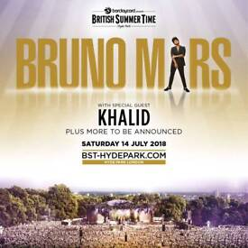 Bruno Mars Concert at Hyde Park 14 July
