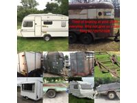 WANTED TRAILERS, BOX TRAILERS, CARAVANS, CONTAINERS , CHASSIS ETC...DERBYSHIRE & NOTTINGHAMSHIRE