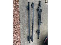 Thule Roof Bars and Halfords Bike Carrier