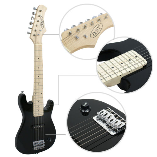 Купить Zeny 30 Electric Guitar - Child Electric Guitar Kids 30 Black Guitar With Amp + Case + Strap and More