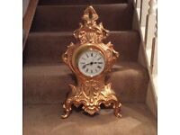 Large brass / copper coloured clock - French style?