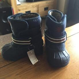 Boys Brand New Lined Winter Boots from Next. Size 4