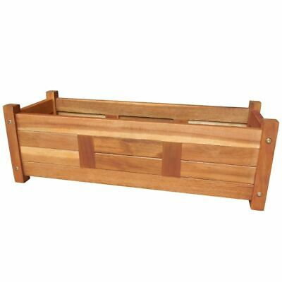 vidaXL Solid Acacia Wood Outdoor Planter Garden Patio Pot Flowers Display Box](Wood Planter Boxes)