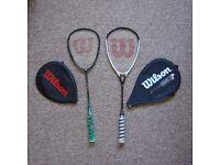 2x Wilson Badminton Rackets with Headcovers
