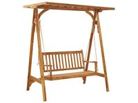 Garden Swing Bench with Trellis Solid Acacia Wood-46659