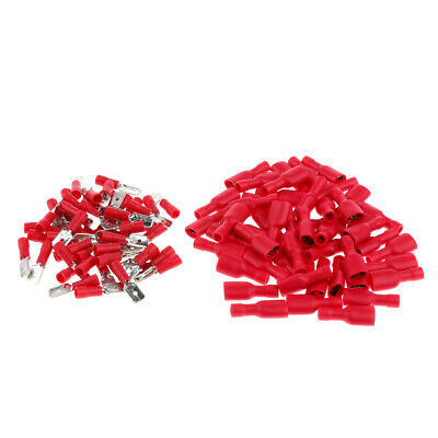 100pcs Insulated Assortment Electrical Wire Connector Crimp Terminals Kit