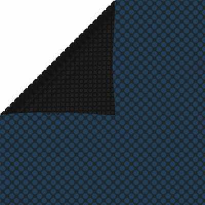 vidaXL Cubierta Solar de Piscina de PE Flotante Negro y Azul 260x160cm...
