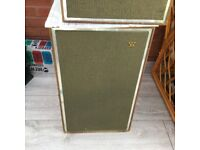 WHARFEDALE VINTAGE SPEAKERS 60's excellent condition REDUCEC £185.00